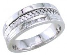 Diamond Wedding Band 14K White Gold 0.12 cts. DWB-3354