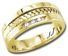 Diamond Wedding Band 14K Yellow Gold 0.12 cts DYWB-3354