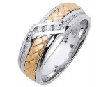 Diamond Wedding Band 14K Two Tone Gold 0.21 cts. DWB-3357
