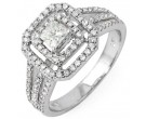 Diamond Engagement Ring 14K White Gold 0.94 cts. 10R1312