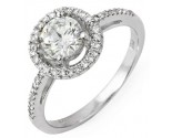 Diamond Engagement Ring 14K White Gold 1.09 cts. 10R1317