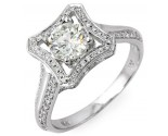 Diamond Engagement Ring 14K White Gold 1.24 cts. 10R1318