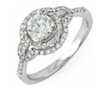 Diamond Engagement Ring 14K White Gold 1.15 cts. 10R1325