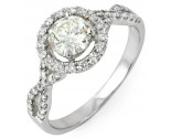 Diamond Engagement Ring 14K White Gold 1.11 cts. 10R1328