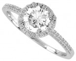 Diamond Engagement Ring 14K Gold 0.23 cts. 10R1471