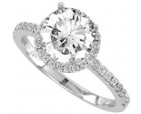 Diamond Engagement Ring 14K Gold 0.38 cts. 10R1473