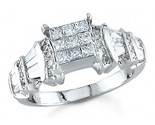 Ladies Diamond Ring 14K White Gold 1.50 cts. S14-4