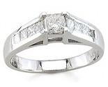 Ladies Diamond Ring 14K White Gold 1.00 cts. S13-20
