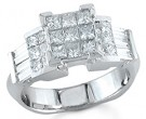 Ladies Diamond Ring 14K White Gold 2.10 cts. S14-6