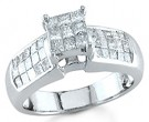 Ladies Diamond Ring 14K White Gold 1.15 cts. S14-3
