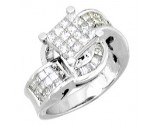 Ladies Diamond Ring 14K White Gold 1.50 cts. A56-R0042