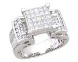 Ladies Diamond Ring 14K White Gold 2.40 cts. A56-R0047