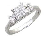 Ladies Diamond Ring 14K White Gold 1.00 cts. A56-R0389
