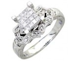 Ladies Diamond Ring 14K White Gold 0.60 cts. A56-R0593