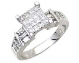 Ladies Diamond Ring 14K White Gold 1.40 cts. A56-R0627