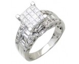 Ladies Diamond Ring 14K White Gold 1.75 cts. A56-R0643