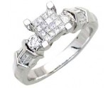 Ladies Diamond Ring 14K White Gold 0.75 cts. A56-R0706