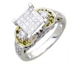 Ladies Diamond Ring 14K White Gold 1.25 cts. A61-R0450-WY