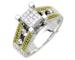 Ladies Diamond Ring 14K White Gold 0.90 cts. A62-R0072-WY