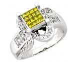 Ladies Diamond Ring 14K White Gold 1.05 cts. A62-R0306-WY
