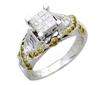 Ladies Diamond Ring 14K White Gold 1.10 cts. A62-R0389-WY