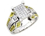 Ladies Diamond Ring 14K White Gold 1.15 cts. A62-R0424-WY