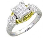 Ladies Diamond Ring 14K White Gold 0.85 cts. A62-R0426-WY