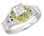 Ladies Diamond Ring 14K White Gold 0.70 cts. A62-R0429-WY