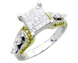 Ladies Diamond Ring 14K White Gold 1.35 cts. A62-R0430-WY
