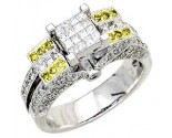 Ladies Diamond Ring 14K White Gold 1.30 cts. A62-R0433-WY2