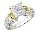 Ladies Diamond Ring 14K White Gold 0.80 cts. A62-R0434-WY