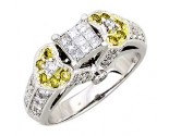 Ladies Diamond Ring 14K White Gold 1.05 cts. A62-R0441-WY
