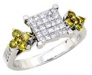 Ladies Diamond Ring 14K White Gold 1.30 cts. A62-R0443-WY