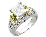 Ladies Diamond Ring 14K White Gold 1.25 cts. A62-R0450-WY