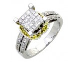 Ladies Diamond Ring 14K White Gold 0.70 cts. A62-R1534-WY