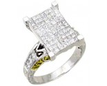 Ladies Diamond Ring 14K White Gold 1.85 cts. A62R0432-WY