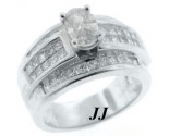 Ladies Diamond Ring 18K White Gold 1.80 cts. 6JPJ12864