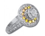Ladies Diamond Ring 18K White Gold 1.90 cts. 6JSM2979A