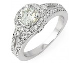 Diamond Engagement Ring 14K White Gold 1.34 cts. 6R741
