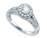 Diamond Engagement Ring 14K White Gold 1.09 cts. GD-72639