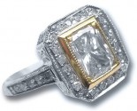 Ladies Diamond Ring 14K White Gold 1.59 cts. 7J6745