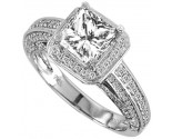 Diamond Engagement Ring 14K Gold 0.96 cts. 9R1201