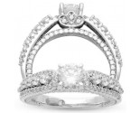 Diamond Engagement Ring 14K White Gold 1.55 cts. AV-59023