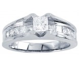 Diamond Engagement Ring 14K White Gold 0.50 cts. CL-19016