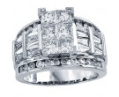 Ladies Diamond Engagement Ring 14K White Gold 0.50 ct. CL-30908