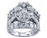 Ladies Diamond Engagement Ring 14K White Gold 4.00 ct. CL-30927