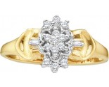 Ladies Diamond Cluster Ring 10K Yellow Gold 0.10 cts. GD-10015