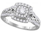 Ladies Diamond Engagement Ring 14K Gold 0.75 cts. GD-111745