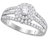Ladies Diamond Engagement Ring 14K Gold 1.00 ct. GD-111769