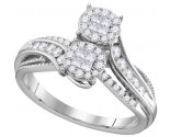 Ladies Diamond Engagement Ring 14K Gold 0.50 cts. GD-112480